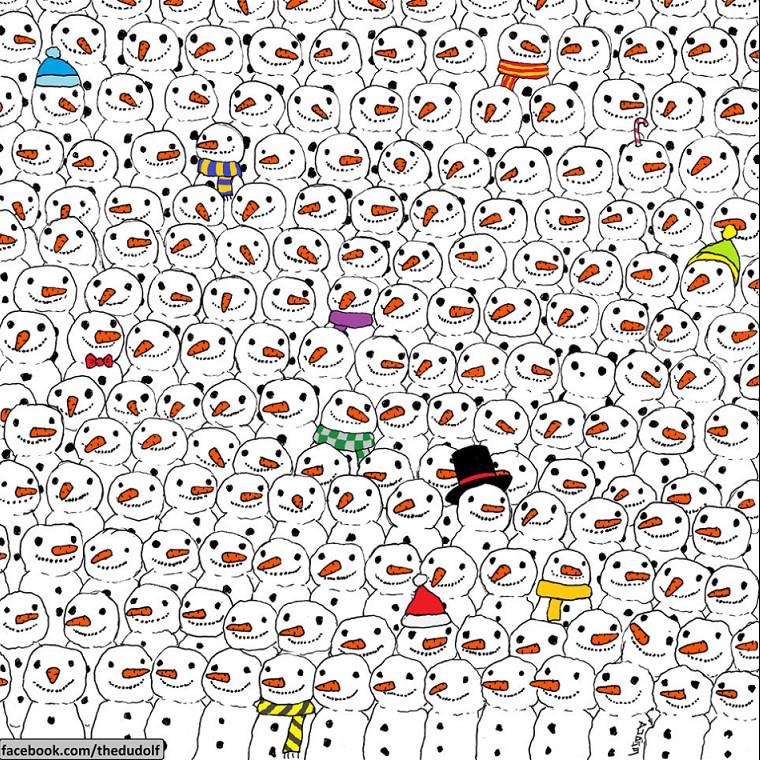 Wer kann du den Panda auf diesem Bild finden?
