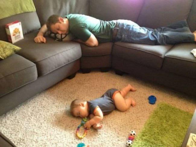 Kinder können überall einschlafen :)