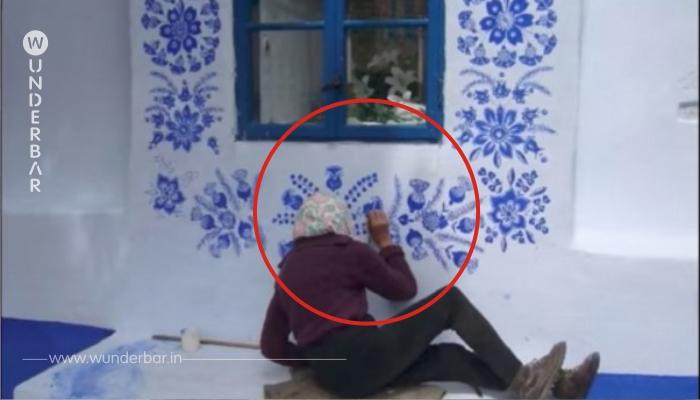 Du reibst deine Augen: 91 Jährige malt wunderschöne Motive auf alte Dorfkapelle.