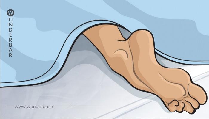 Deswegen streckst du nachts deinem Fuß aus dem Bett. An sowas habe ich gar nicht gedacht.