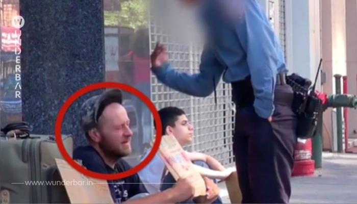 Als eine Frau einen Obdachlosen schlägt, bleibt dieser ganz ruhig, doch dann tat der Junge neben ihm dies. WAUW!