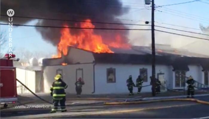 Die Feuerwehrmänner löschten das Feuer. Dann sahen sie, was der Hund in seinem Maul trug.