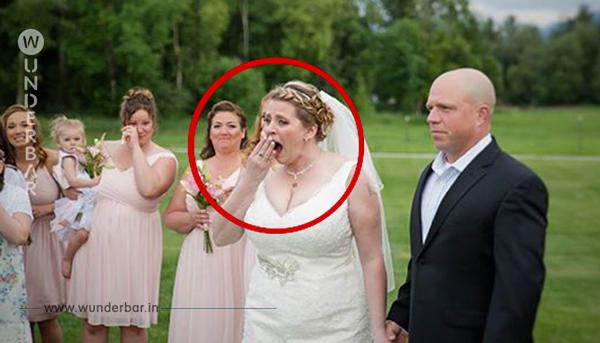 Die 40-jährige Braut lässt einen Platz für ihren toten Sohn frei. Als sie sieht, wer auf der Zeremonie zu Gast ist, kann sie die Tränen nicht zurückhalten.