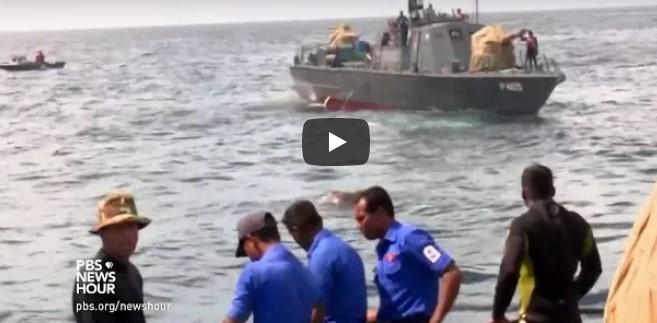Seefahrer bemerken etwas im Wasser – als sie sehen, dass es ein Elefant ist, versuchen sie, das Tier zu retten