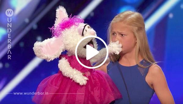 12 Jährige betritt die Bühne zum Singen – doch als der Hase übernimmt, ist das Publikum sprachlos!