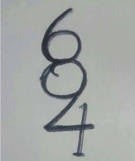 Wie viele Zahlen sehen Sie auf dieser Abbildung? Nur wenige Menschen sehen sie alle!