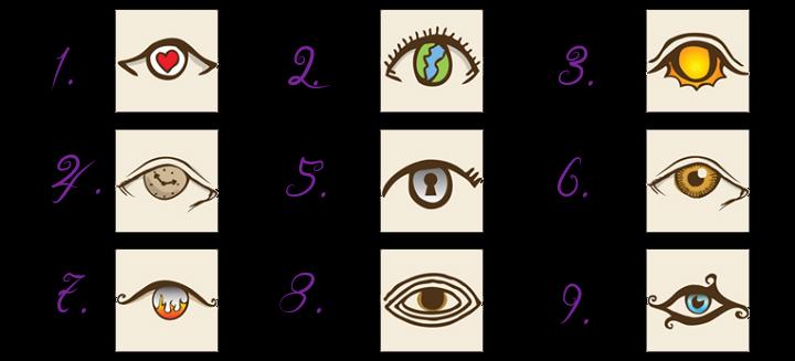 Ein lustiger Persönlichkeitstest! Wähle ein Auge und sieh was sich enthüllt