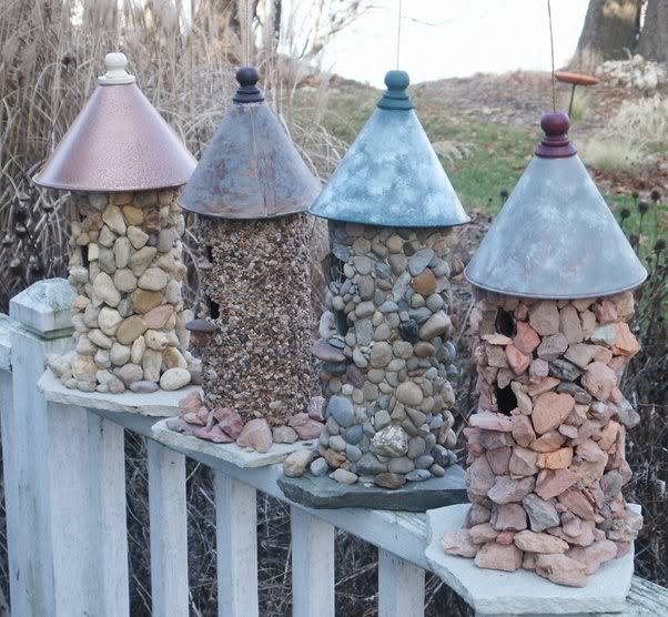 Dies sind wunderbare Möglichkeiten, um mit Steinen zu dekorieren! Nummer 3 würde ich auch gerne machen!