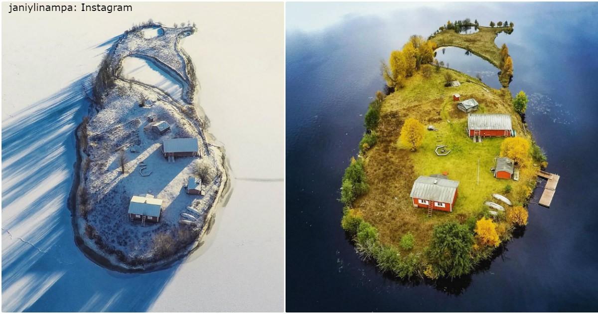 Ich habe dieselbe Insel in 4 verschiedenen Jahreszeiten fotografiert! Ist es ja zu herrlich!