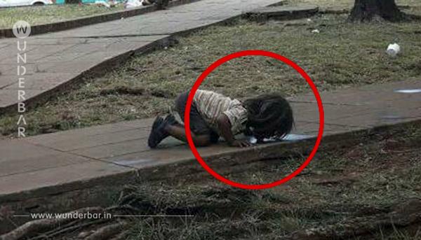 Dieses Bild von einem Mädchen, das vor Durst beinahe stirbt, erobert nun die ganze Welt