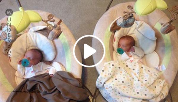Die Zwillinge befinden sich in derselben Gebärmutter – als sie geboren werden, ist es im gesamten Raum still!