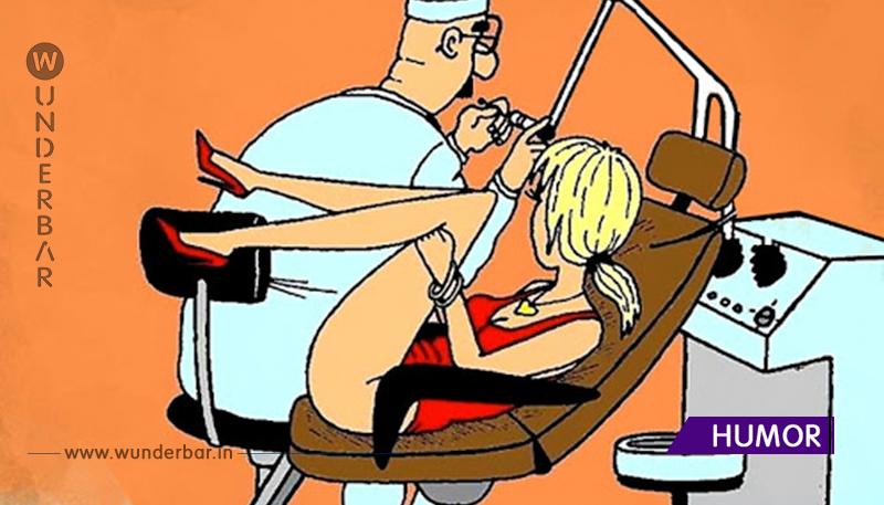 Ins Arbeitszimmer eines Gynäkologen tritt eine sexy Blondine ein. Sie gefiel auf einmal dem Arzt