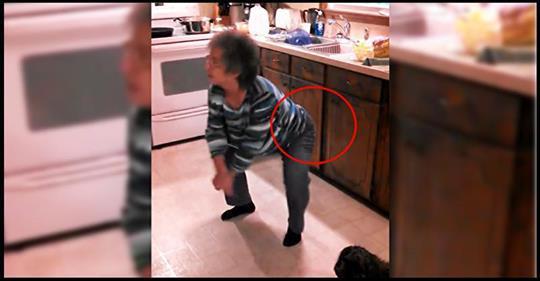 Eine Grossmutter war am Kochen, als ihr Lieblingslied im Radio gespielt wurde. Die Enkelin filmte ihre urkomischen Bewegungen.