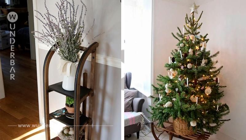 Mache von einem alten Schlitten die schönste Weihnachtsdekoration! Nummer 6 ist wirklich fantastisch