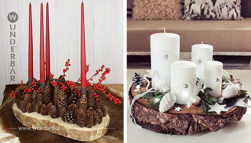 Dekoriere eine Baumscheibe mit tollen Herbst- und Winterobjekten…9 großartige Vorbilder für den Tisch!