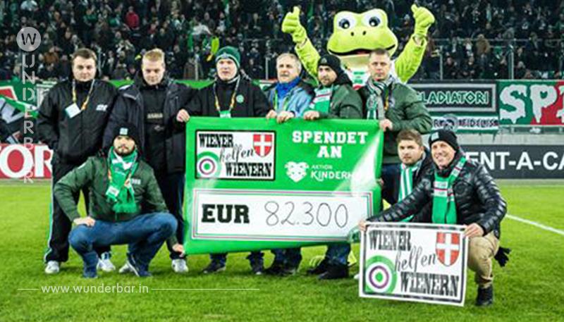 82.300 Euro! Rapid-Fans spenden für kranke Kinder