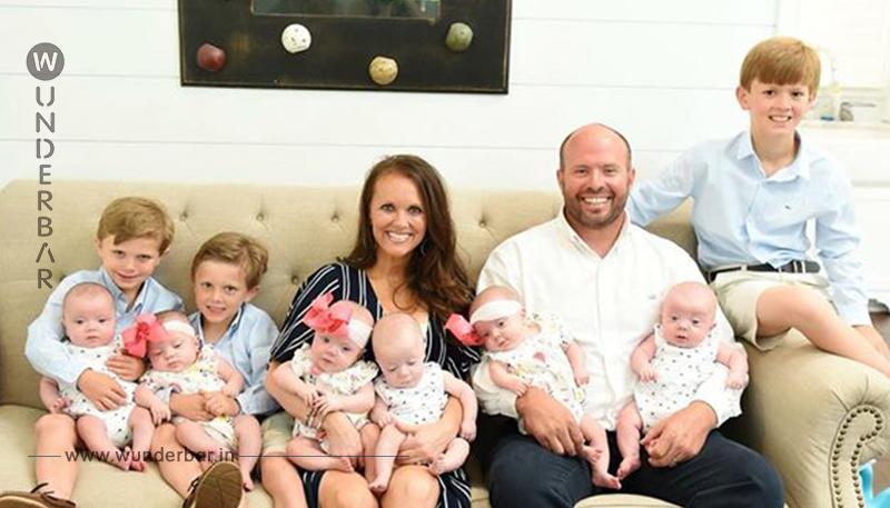 Ein Paar hat nach der dritten Schwangerschaft nun insgesamt neun Babys