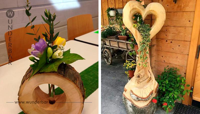 Mit diesen unterschiedlichen Dekorationsideen aus Holz machen Sie Ihr Haus und Ihren Garten viel stimmungsvoller! von DIY Bastelideen