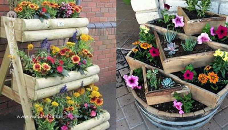 Frischen Sie Ihren Garten auf mit diesen 13 lustigen hölzernen Pflanzkübeln!