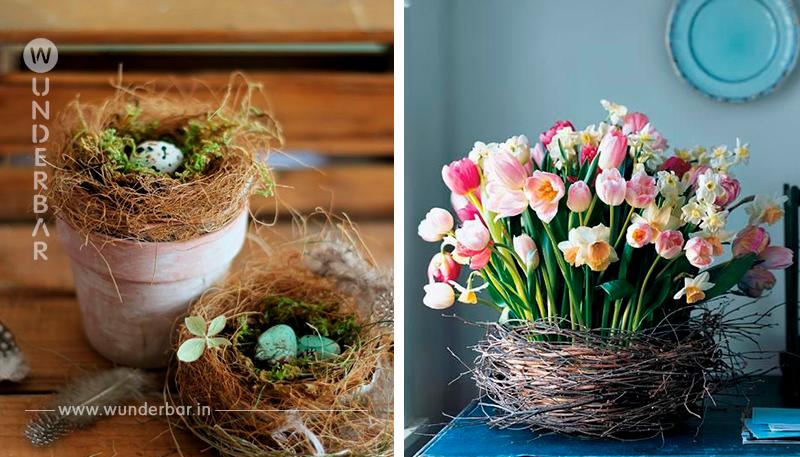 Vogelnester gehören einfach im Frühling dazu….Schau dir diese 10 selbstgemachten Vogelnester für Dekorationszwecke an!