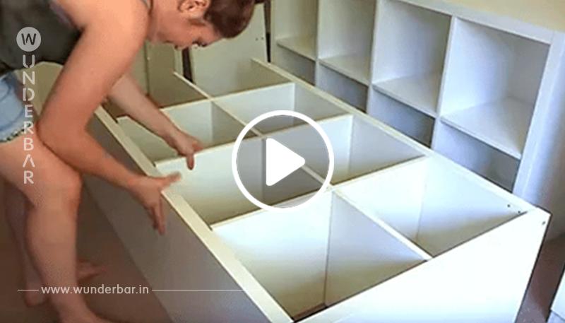 4 günstige IKEA Regale im Schlafzimmer aufstellen. Die Transformierung ist einfach genial!