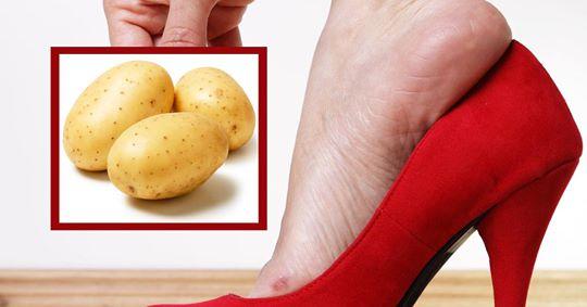 Schuhe weiten mit Kartoffeln: So geht's