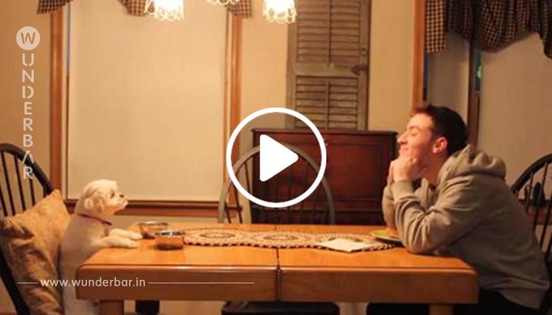 Ein Sohn sendet den Eltern ein Video in den Urlaub, um ihnen zu zeigen, dass es ihrem Hund gut geht