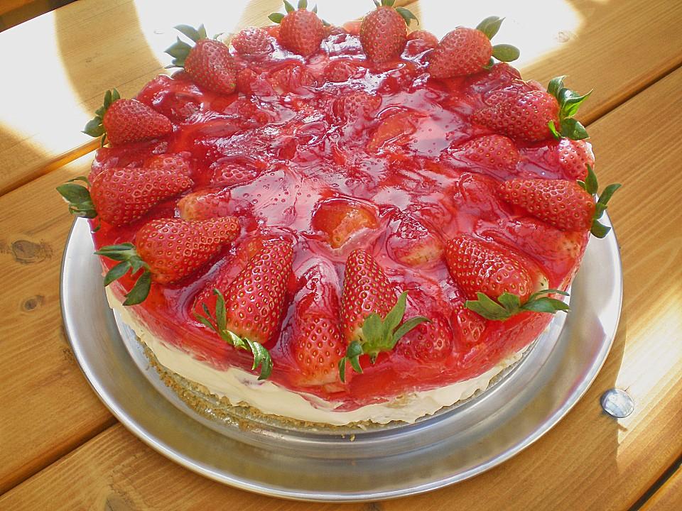 erdbeer windbeutel torte