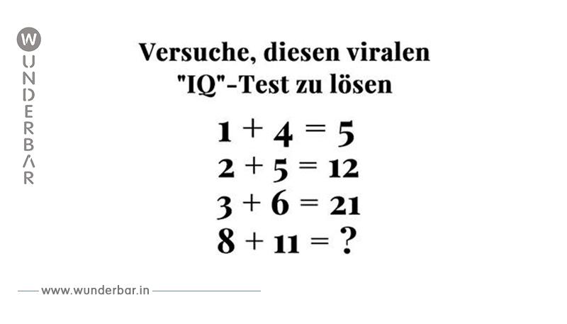 Jeder tut sich schwer, dieses mathematische Rätsel zu lösen. Schaffst Du es?