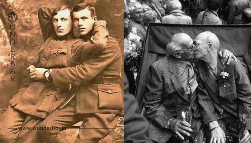 14 homosexuelle Paare zeigten ihre Liebe vor der Kamera.