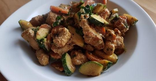 Schnelle Hähnchenbrust   Zucchini   Pfanne