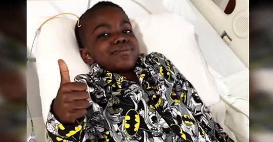 8 Jähriger ist außer sich vor Freude, nachdem er seinen Gehirntumor 4. Grades besiegt hat