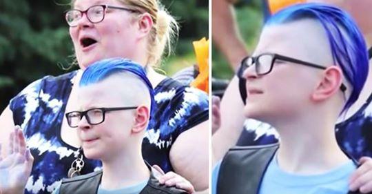 Nur 3 Kinder antworten auf die Einladung zum Geburtstag eines Jungen, als eine unerwartete Gruppe Biker auf sie zukommen