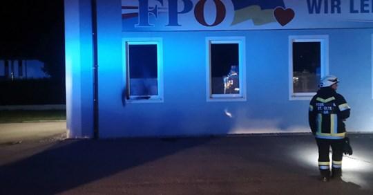 Brand bei FPÖ: SPÖ Ortsgruppe wittert Inszenierung