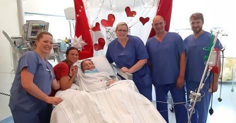 Sie heiratete ihren schwerkranken Partner im Krankenhaus