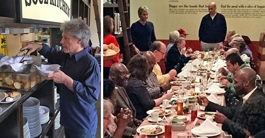 Jon Bon Jovi hat zwei Restaurants, die Essen für Bedürftige bereitstellen