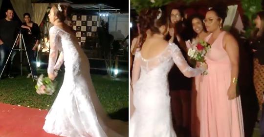 6 Frauen, die beim Brautstrauß-Wurf überrascht wurden