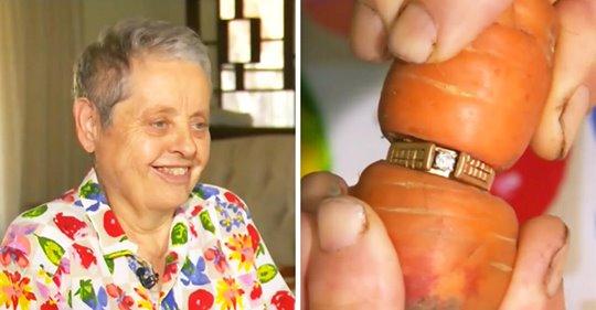 Eine Frau verlegt ihren Verlobungsring im Garten und findet ihn 13 Jahre später auf einer Karotte