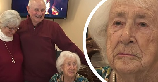 Zwillinge feiern ihren 80. Geburtstag, und ihre 103 jährige Mutter ist einer ihrer Gäste