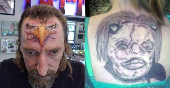 14 Fotos von schlecht durchdachten Tattoos