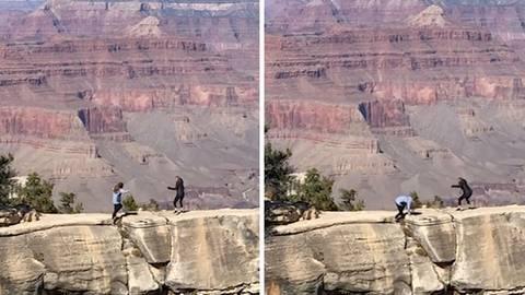 Grand Canyon: Tochter will Foto von ihrer Mutter machen – dann tritt sie plötzlich ins Leere