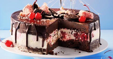 Schwarzwälder Käse-Brownie-Torte