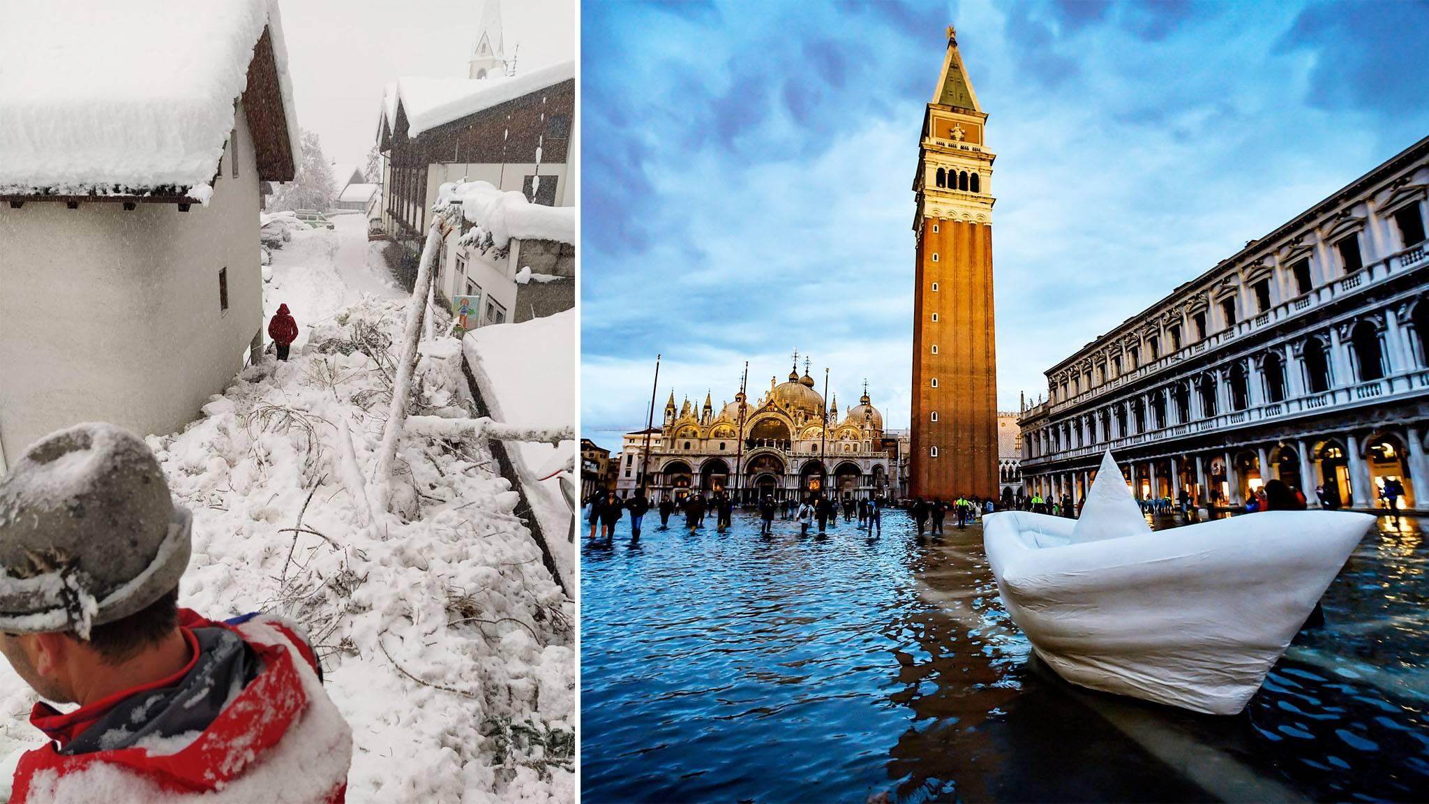Schneechaos in Südtirol – Hochwasserlage in Venedig entspannt sich leicht