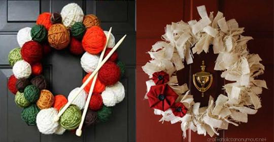 Die Weihnachtszeit beginnt an der Haustür! Wunderschöne Alternativen zu den standardmäßig traditionellen Weihnachtskranz!