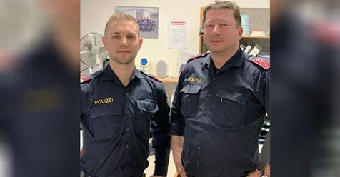 Helden in blau: Wiener Polizisten beleben 9 Monate altes Mädchen wieder