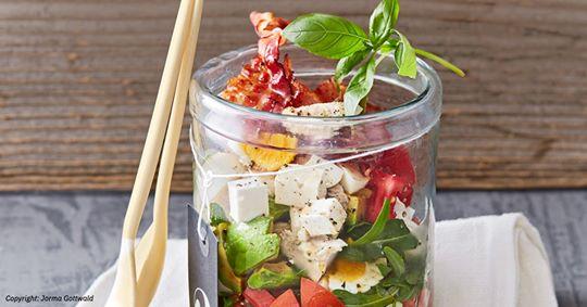 Salat im Glas: praktisch und lecker
