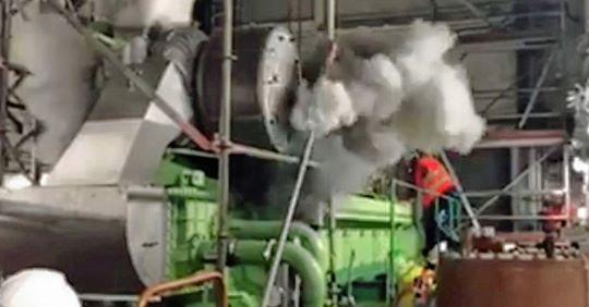 Schreckmoment: Explosion im Atomkraftwerk Mochovce