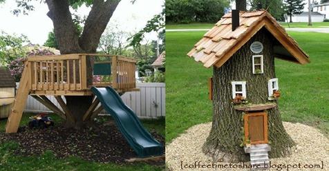 Haben Sie Bäume im, oder um Ihren Garten? Lassen Sie sich von diesen wunderbaren Ideen inspirieren.