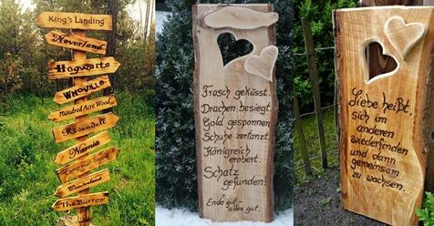 Haben Sie bereits inspirierende Texte in Ihrem Garten? Lustige und schöne Texte zur Verarbeitung in Ihrem Garten.