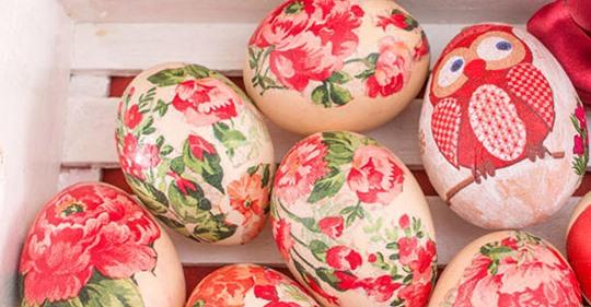 Ostereier färben mit Seidentüchern - so geht's!